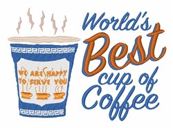 Worlds Best Cup embroidery design