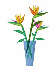 Bird of Paradise embroidery design