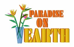 Paradise on Earth embroidery design