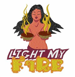 Light My Fire! embroidery design