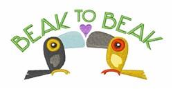 Beak to Beak embroidery design