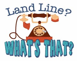 Land Line embroidery design