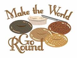 World Go Round embroidery design