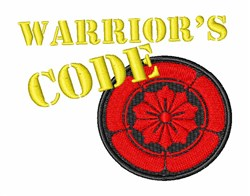 Warriors Code embroidery design