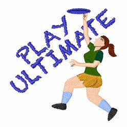 Play Ultimate embroidery design