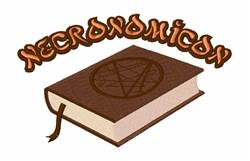 Necronomicon embroidery design