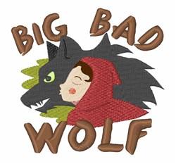 Big Bad Wolf embroidery design