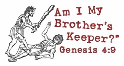 Brothers Keeper embroidery design