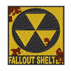 Fallout Sign embroidery design