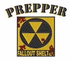 Prepper Sign embroidery design