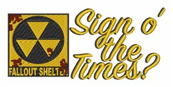 Sign O Times embroidery design