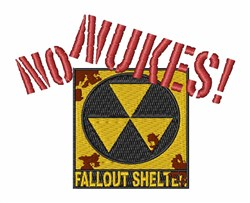 No Nukes embroidery design