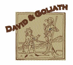 David & Goliath embroidery design