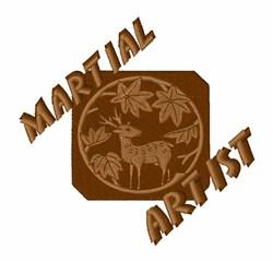 Martial Artist embroidery design