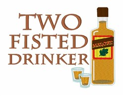 Two Fisted Drinker embroidery design