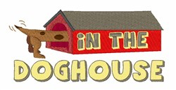 In The Doghouse embroidery design