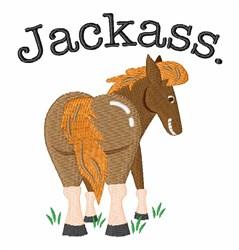 Jackass embroidery design