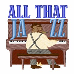 All That Jazz embroidery design