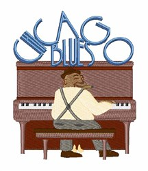 Chicago Blues embroidery design