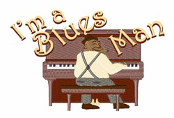 Blues Man embroidery design