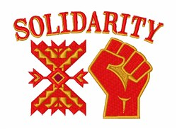 Solidarity embroidery design