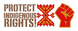 Indigenous Rights embroidery design