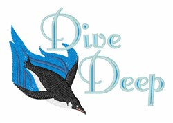 Dive Deep embroidery design