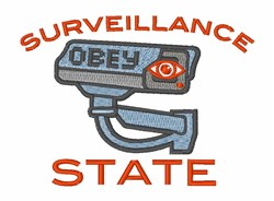 Surveillance State embroidery design