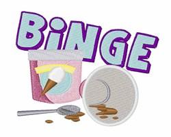 Ice Cream Binge embroidery design