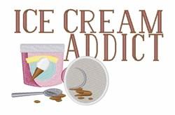 Ice Cream Addict embroidery design