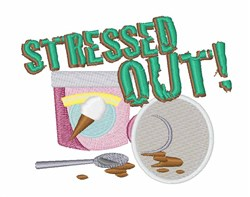 Stressed Out! embroidery design