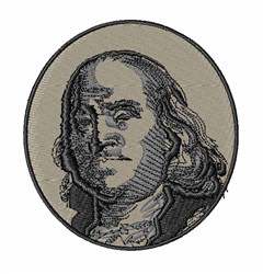 Benjamin Franklin embroidery design