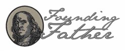 Founding Father embroidery design