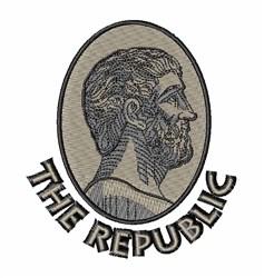 The Republic embroidery design