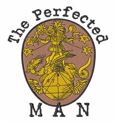 Perfected Man embroidery design