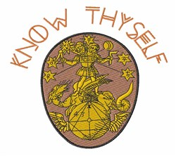 Know Thyself embroidery design