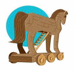 Trojan Horse embroidery design