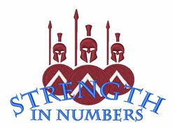 Strength in Numbers embroidery design