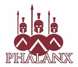 Phalanx embroidery design