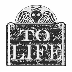 To Life embroidery design