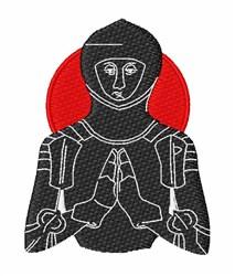 Knight embroidery design