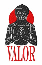 Knight Valor embroidery design