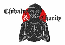 Chivalry & Charity embroidery design