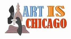 Art is Chicago embroidery design