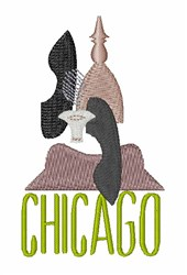 Chicago embroidery design