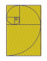 Golden Mean embroidery design