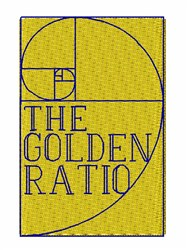 The Golden Ratio embroidery design