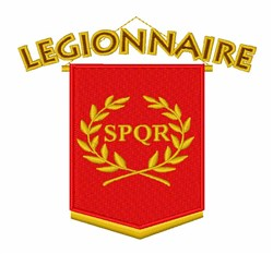 Legionnaire embroidery design
