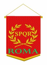 SPQR Roma embroidery design