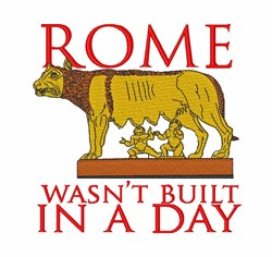 Rome Wasnt Built embroidery design